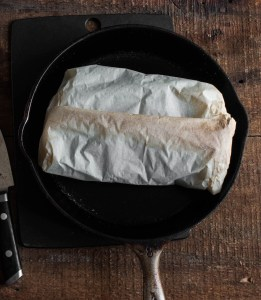 Minnesota matsutake mushrooms baked in parchment