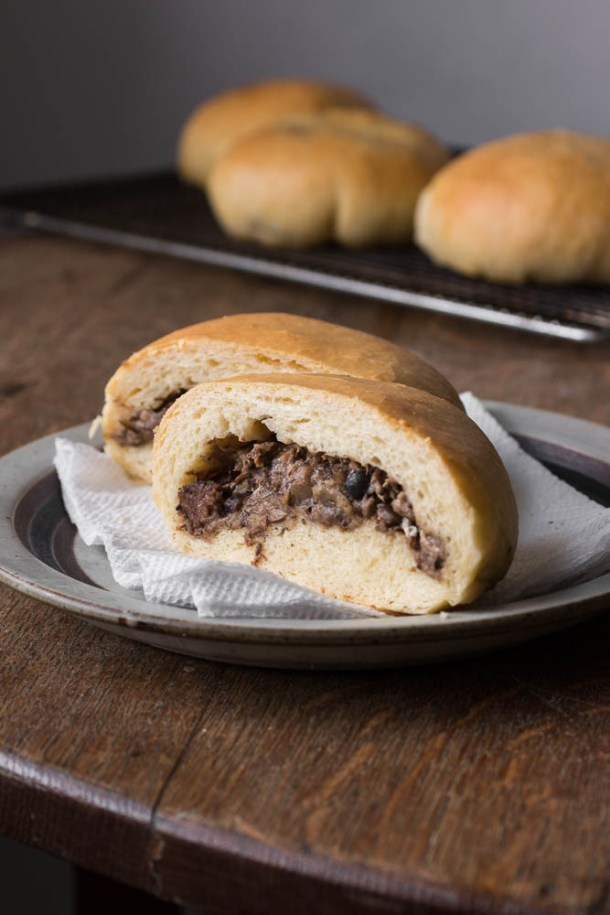 Beef and honey mushroom runzas or bielbocks
