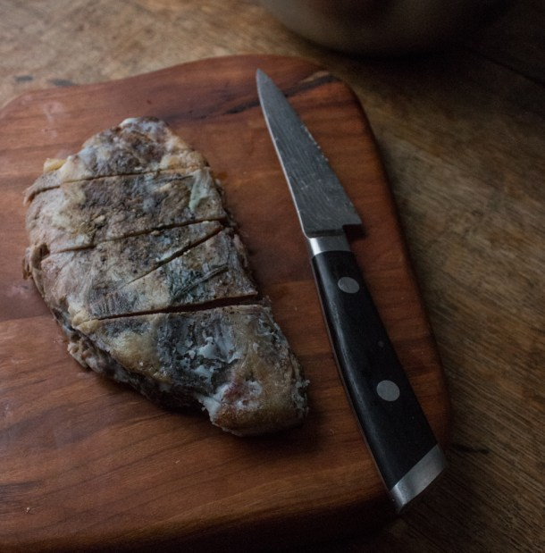 Baked goat breast