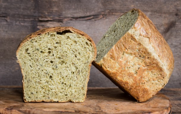 Wild herb brioche made with ramp leaves and bergamot