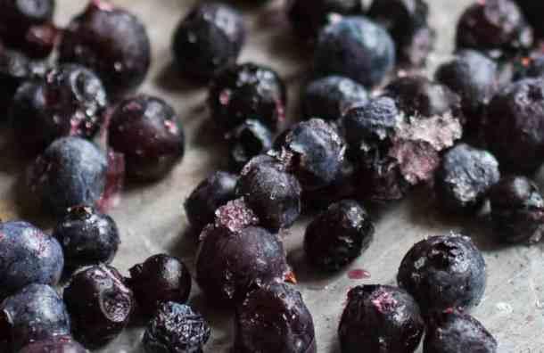 Venison breakfast sausage with wild blueberries