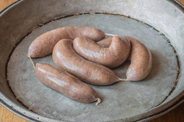Smoked lamb heart sausages