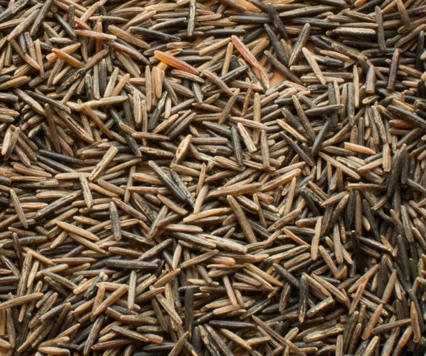Parched wild rice