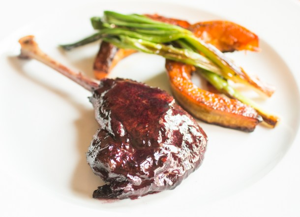 Wild Goose leg glazed with grape reduction (3)-2