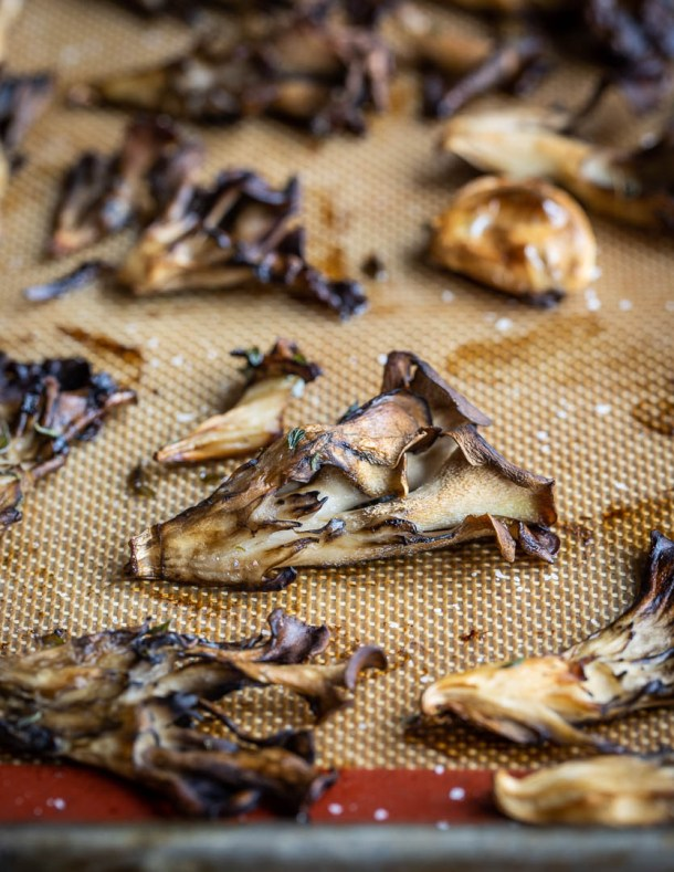 Easy roasted hen of the woods mushroom recipe