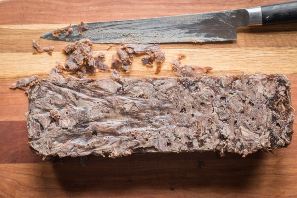Beef Neck Terrine en Gelee with Black Trumpet Mushroom Inlay (6)