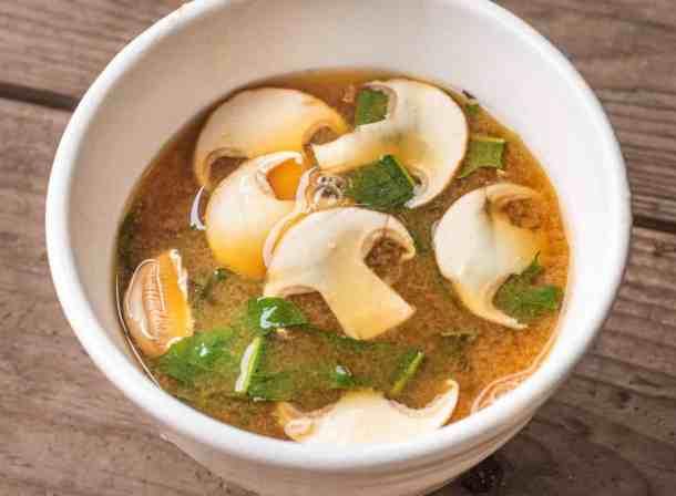 Matsutake mushroom miso soup recipe