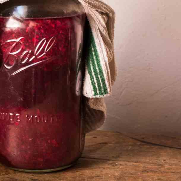 Foraged blueberry, grape, and aronia homemade vinegar recipe