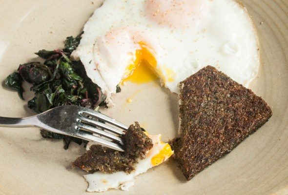 Traditional scrapple made with liver, buckwheat, cornmeal and spices recipe