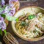 Morel pasta with ramps recipe