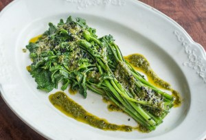 Garlic mustard shoots with ramp leaf butter recipe