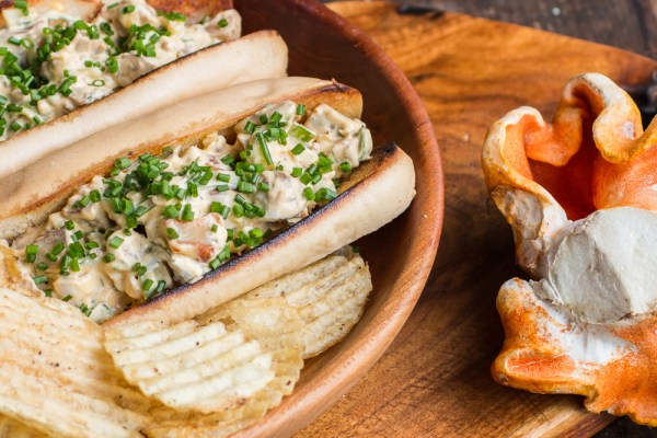 Foraged Lobster mushroom rolls recipe