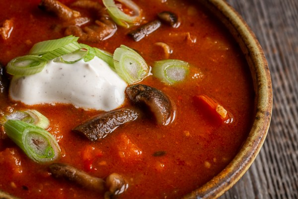 Venison goulash or gulyas with honey mushrooms recipe