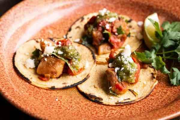 Shrimp of the woods or wild mushroom tacos recipe (1)