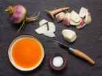 Raw turnips with acorn oil recipe