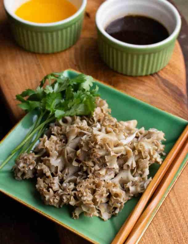 Steamed cauliflower mushrooms with ponzu recipe