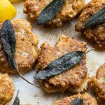 Lamb brain recipe fritters with lemon and sage