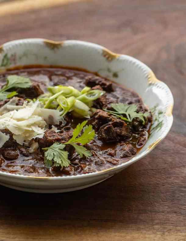 Smoked venison neck chili recipe