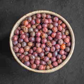 Dried hackberries or Celtis occidentalis
