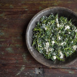Turkish nettle recipe with lor cheese