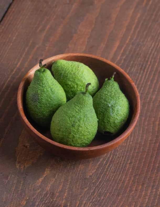 Green unripe black walnuts