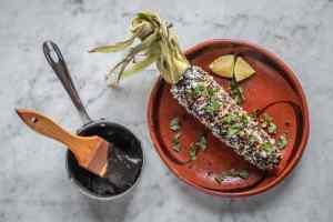 Huitlacoche or corn truffle / corn mushroom elotes recipe