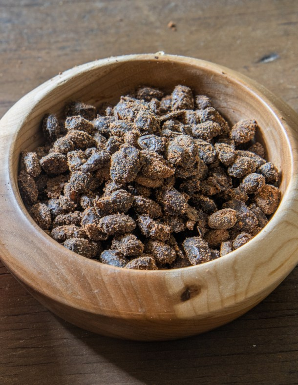Fermented black soy beans or douchi