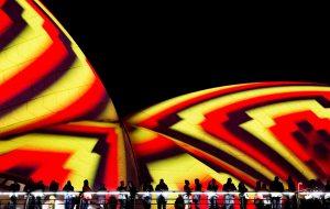 The illuminated sails of Sydney's Opera House during Vivid Festival 2016 | Foraggio Photographic
