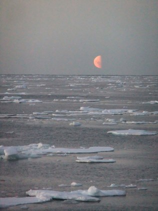 Moonrise in East Antarctica