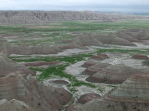 Erosion at the Badlands, South Dakota