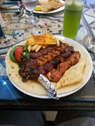 Syrian food- lamb, chicken, and beef