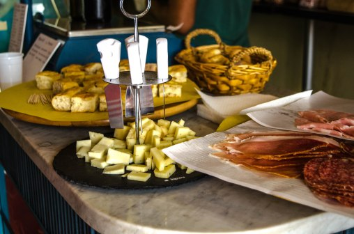 Cheese and meat at our wine tasting.