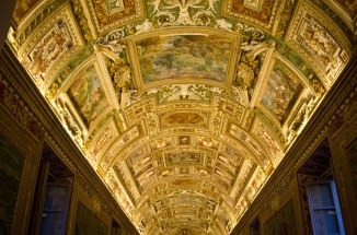 The majority of the ceilings throughout the Vatican were like this.