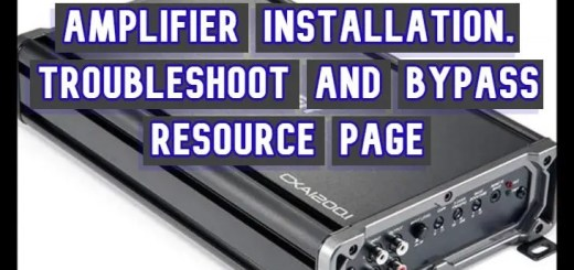 amplifier installation, troubleshoot and bypass resource page