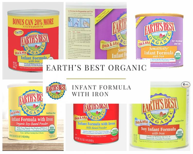 Baby food – Earth's Best Organic, Infant Formula with Iron, 23.2 Ounce