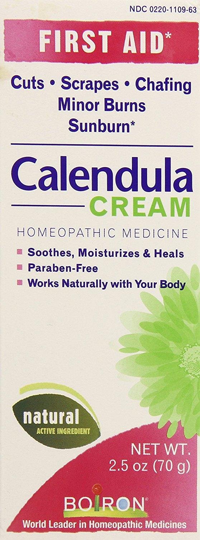 Boiron Calendula Cream, 2.5 Ounce, Homeopathic Medicine for First Aid