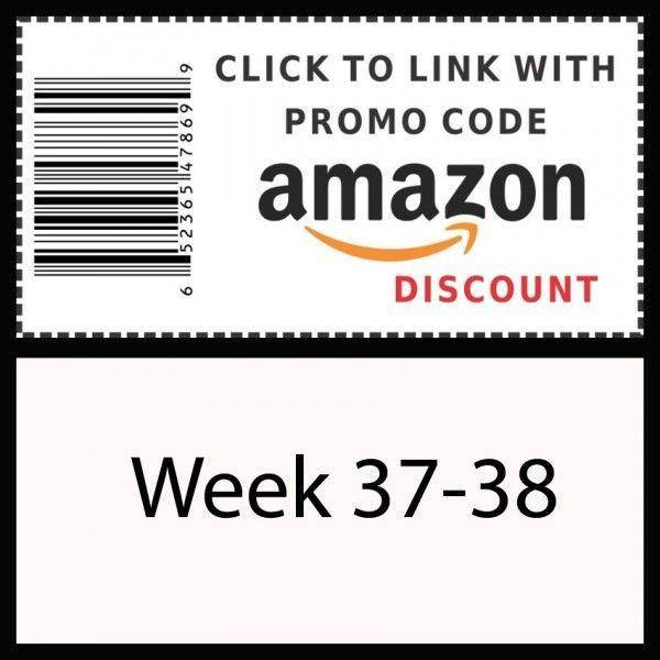 Amazon promo code Week 37-38