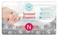 Honest Baby Diapers, Pandas, Size 0 Newborn, 160 Count