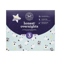Honest Overnight Baby Diapers, Club Box, Sleepy Sheep, Size 3,...