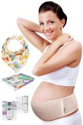Maternity Belt Plus Baby Bib by HealthySam - Breathable Belly Band For...