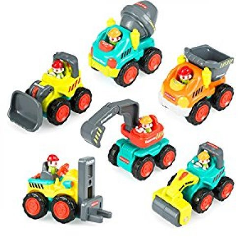 Pocket Car Toys, Sliding Vehicles Trucks Toy Sets for Baby Toddlers Over 18 Months – ( Set of 6: Bulldozer,...