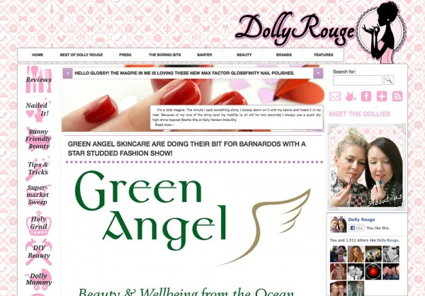 The main Dolly Rouge website