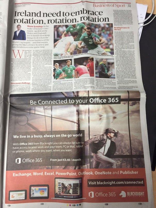 Sunday Business Post Blacknight Office 365 pub