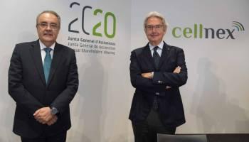 Tobías Martínez y Franco Bernabè, CEO y presidente no ejecutivo de Cellnex Telecom