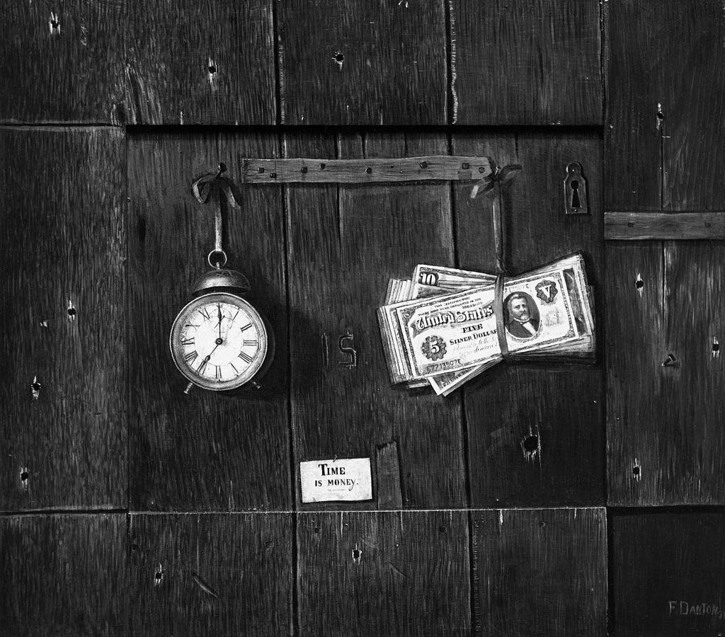 """""""El tiempo es dinero"""". Foto: Bettmann/Getty Images"""