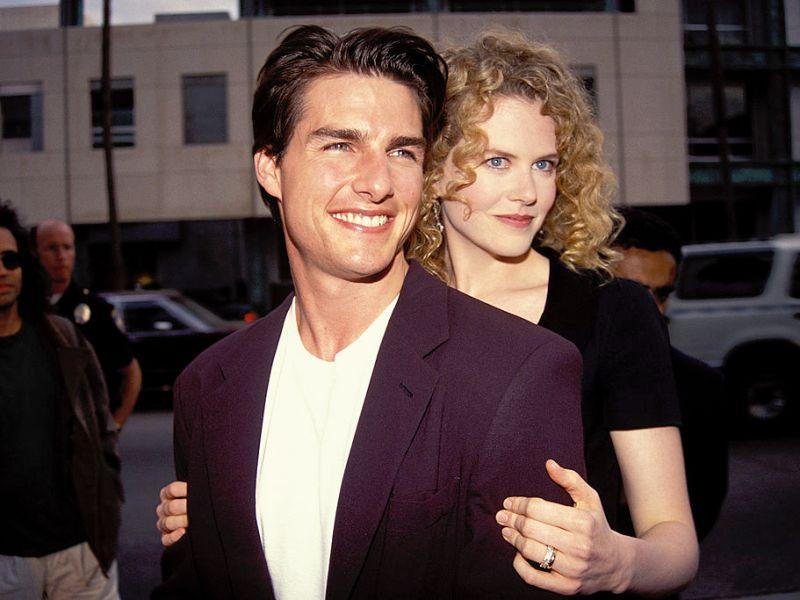 Tom Cruise y Nicole Kidman en Los Ángeles 1992. Foto: Vinnie Zuffante/Getty Images.