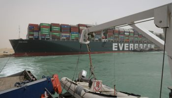 Buque Ever Given. Foto: Suez Canal Authority