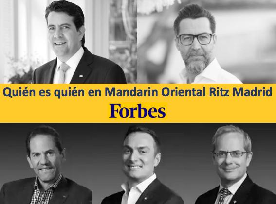 Quién es quién en Mandarin Oriental Ritz Madrid