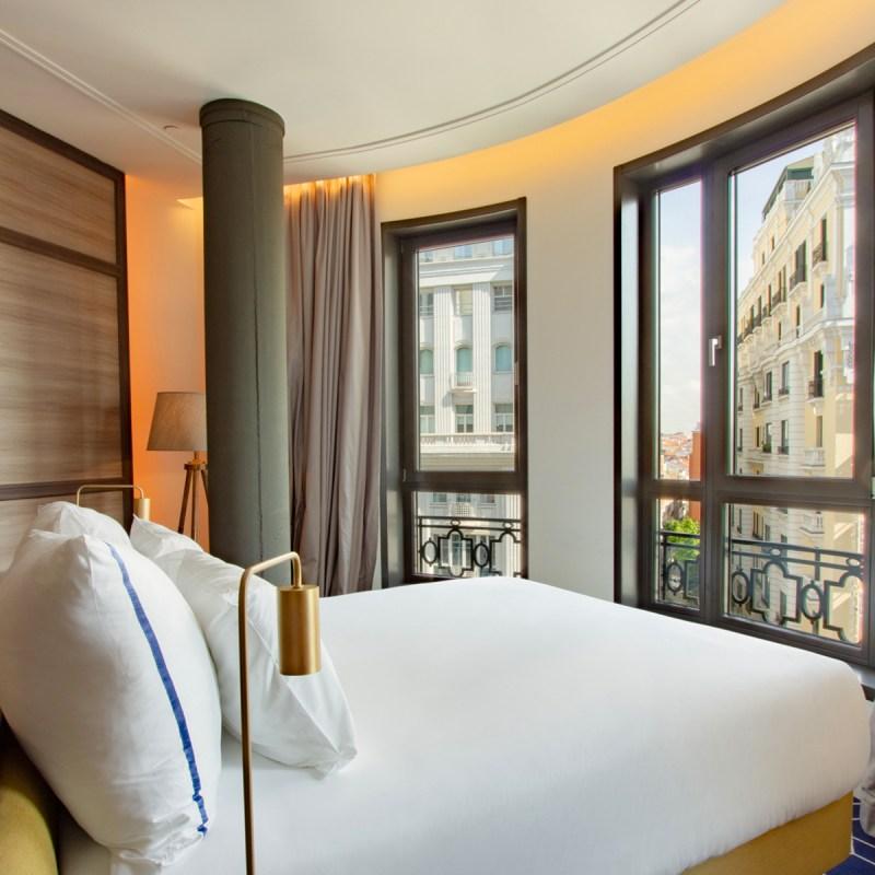 Una de las habitaciones con vistas a la capital española. Forbes