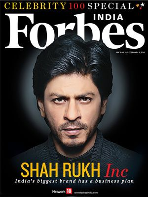 Shah Rukh Khan tops Forbes India Celebrity 100 List